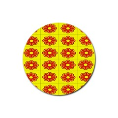 Pattern Design Graphics Colorful Rubber Coaster (Round)