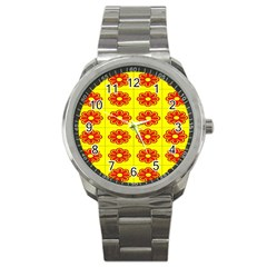 Pattern Design Graphics Colorful Sport Metal Watch