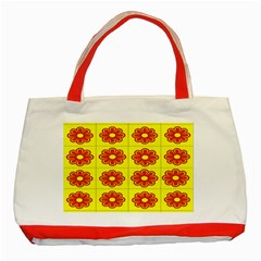 Pattern Design Graphics Colorful Classic Tote Bag (red)