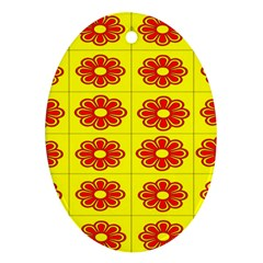 Pattern Design Graphics Colorful Oval Ornament (Two Sides)