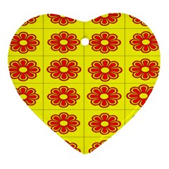 Pattern Design Graphics Colorful Heart Ornament (two Sides)