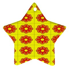 Pattern Design Graphics Colorful Star Ornament (two Sides)