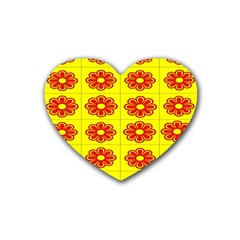 Pattern Design Graphics Colorful Rubber Coaster (Heart)
