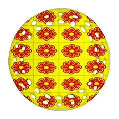 Pattern Design Graphics Colorful Round Filigree Ornament (two Sides)