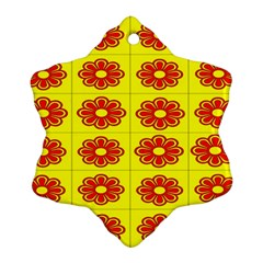 Pattern Design Graphics Colorful Snowflake Ornament (Two Sides)