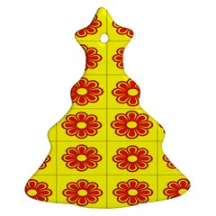 Pattern Design Graphics Colorful Christmas Tree Ornament (Two Sides)