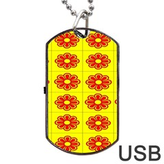 Pattern Design Graphics Colorful Dog Tag Usb Flash (two Sides)