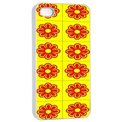 Pattern Design Graphics Colorful Apple iPhone 4/4s Seamless Case (White)
