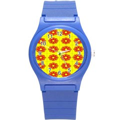 Pattern Design Graphics Colorful Round Plastic Sport Watch (s)