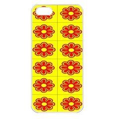 Pattern Design Graphics Colorful Apple Iphone 5 Seamless Case (white)