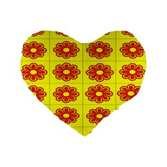 Pattern Design Graphics Colorful Standard 16  Premium Heart Shape Cushions