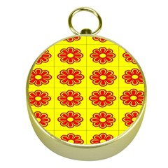 Pattern Design Graphics Colorful Gold Compasses
