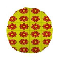 Pattern Design Graphics Colorful Standard 15  Premium Flano Round Cushions