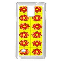 Pattern Design Graphics Colorful Samsung Galaxy Note 4 Case (White)