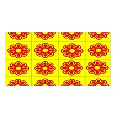 Pattern Design Graphics Colorful Satin Shawl