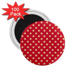 Pattern Felt Background Paper Red 2.25  Magnets (100 pack)