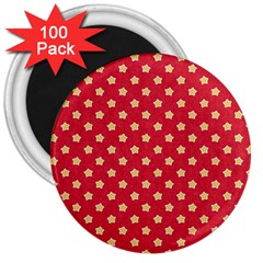 Pattern Felt Background Paper Red 3  Magnets (100 pack)