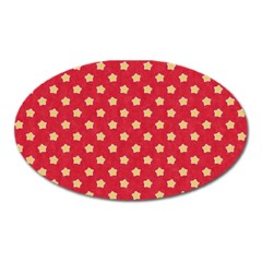 Pattern Felt Background Paper Red Oval Magnet