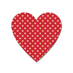Pattern Felt Background Paper Red Heart Magnet