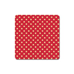 Pattern Felt Background Paper Red Square Magnet