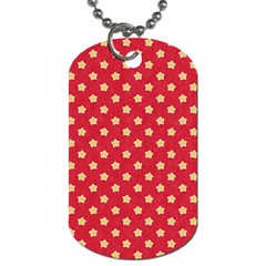 Pattern Felt Background Paper Red Dog Tag (Two Sides)