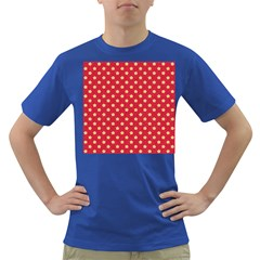 Pattern Felt Background Paper Red Dark T Shirt