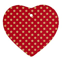 Pattern Felt Background Paper Red Heart Ornament (Two Sides)