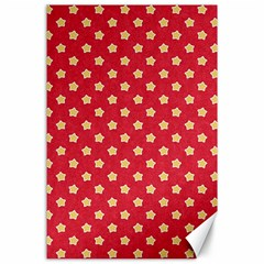 Pattern Felt Background Paper Red Canvas 24  X 36