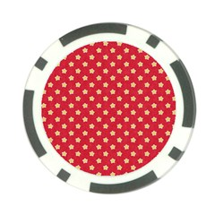 Pattern Felt Background Paper Red Poker Chip Card Guard