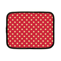 Pattern Felt Background Paper Red Netbook Case (Small)