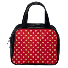 Pattern Felt Background Paper Red Classic Handbags (One Side)