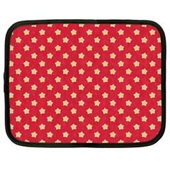 Pattern Felt Background Paper Red Netbook Case (XXL)