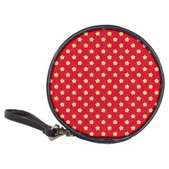 Pattern Felt Background Paper Red Classic 20-CD Wallets