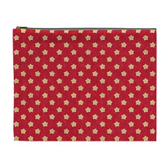Pattern Felt Background Paper Red Cosmetic Bag (XL)