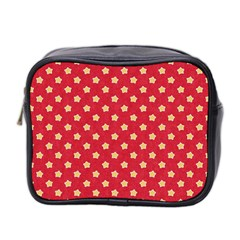 Pattern Felt Background Paper Red Mini Toiletries Bag 2-Side