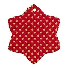 Pattern Felt Background Paper Red Ornament (snowflake)