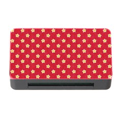 Pattern Felt Background Paper Red Memory Card Reader with CF