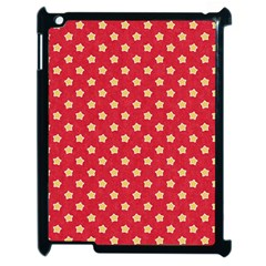 Pattern Felt Background Paper Red Apple iPad 2 Case (Black)