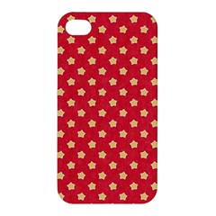 Pattern Felt Background Paper Red Apple iPhone 4/4S Hardshell Case