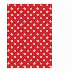 Pattern Felt Background Paper Red Small Garden Flag (two Sides)