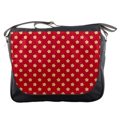 Pattern Felt Background Paper Red Messenger Bags