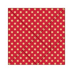 Pattern Felt Background Paper Red Acrylic Tangram Puzzle (6  x 6 )