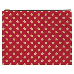 Pattern Felt Background Paper Red Cosmetic Bag (xxxl)