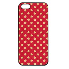 Pattern Felt Background Paper Red Apple Iphone 5 Seamless Case (black)
