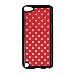 Pattern Felt Background Paper Red Apple iPod Touch 5 Case (Black)