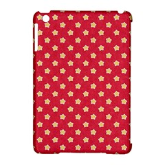 Pattern Felt Background Paper Red Apple Ipad Mini Hardshell Case (compatible With Smart Cover)