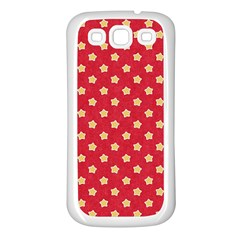 Pattern Felt Background Paper Red Samsung Galaxy S3 Back Case (white)