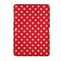 Pattern Felt Background Paper Red Samsung Galaxy Tab 2 (10 1 ) P5100 Hardshell Case