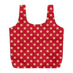 Pattern Felt Background Paper Red Full Print Recycle Bags (l)
