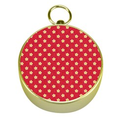 Pattern Felt Background Paper Red Gold Compasses